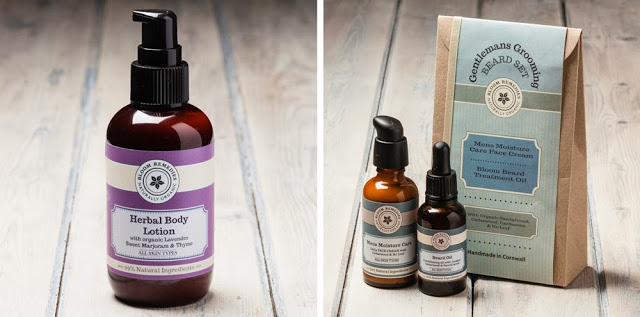Organic skincare product photography on a whitewash wood background.