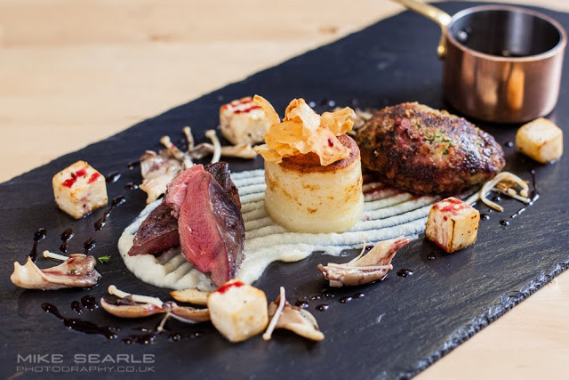 Food photography starter on slate plate