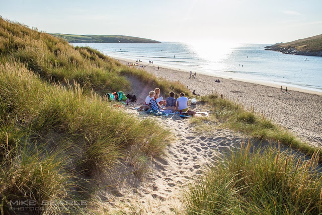A beach barbecue in Cornwall