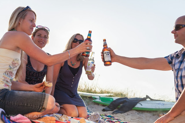 Beach barbecue and beers