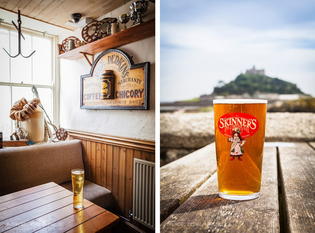 Beer and cider in cornwall near St Michael's mount