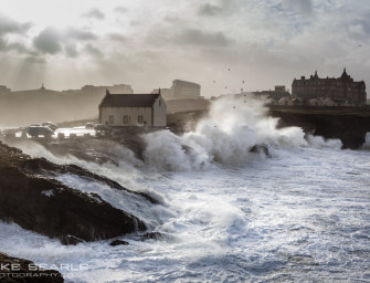 Giant swell hits the Cornish Coast