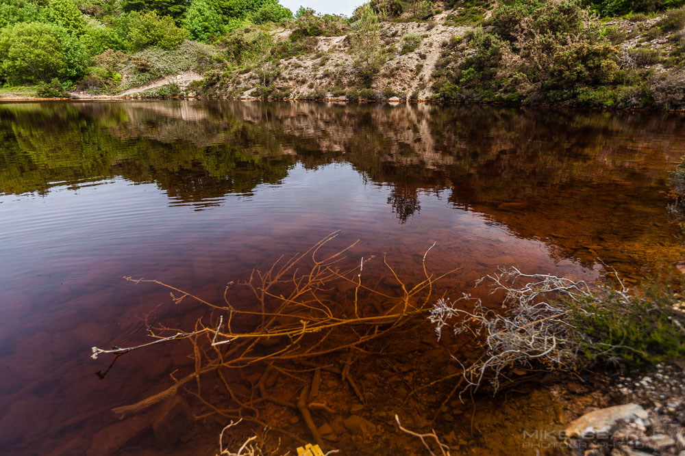 Polluted mine water in cornwall photo