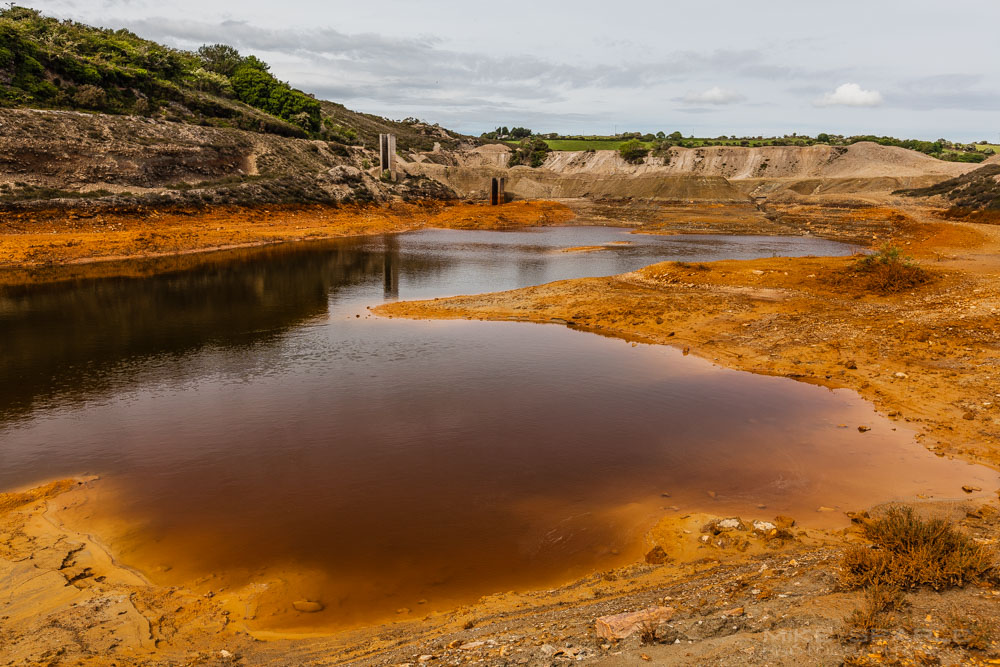 Tailings for the disused mount wellington mine cornwall