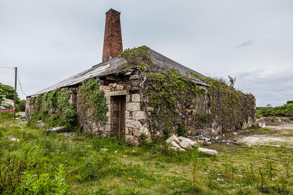 wheal bust mine in cornwall an ivy covered ruin
