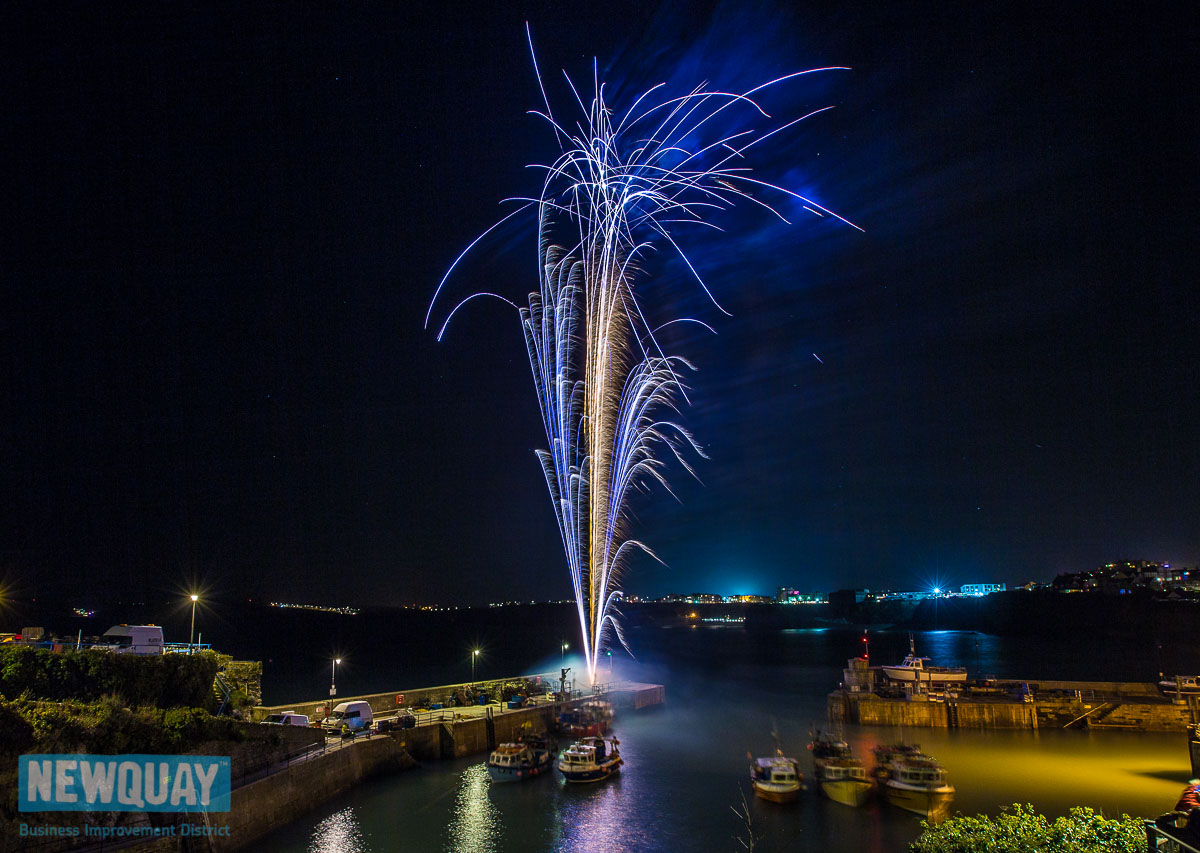 Fireworks at Newquay harbour