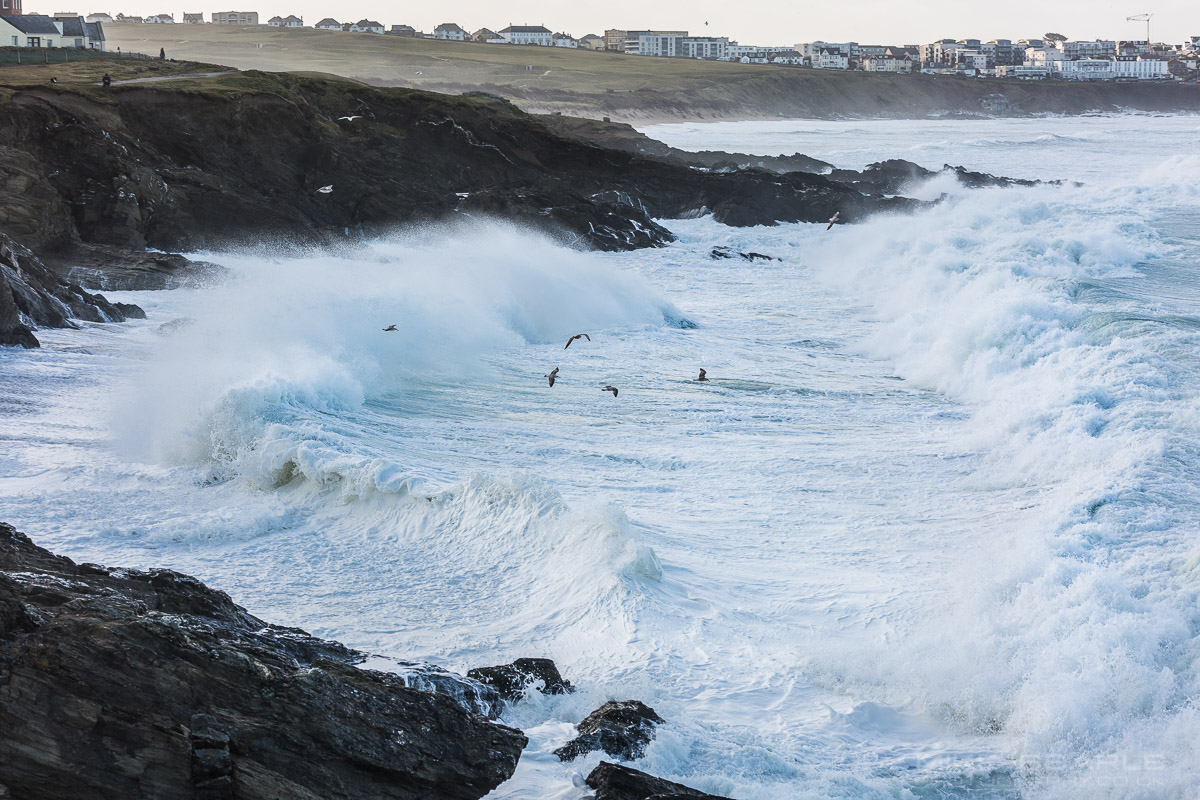 Little Fistral Storm surf
