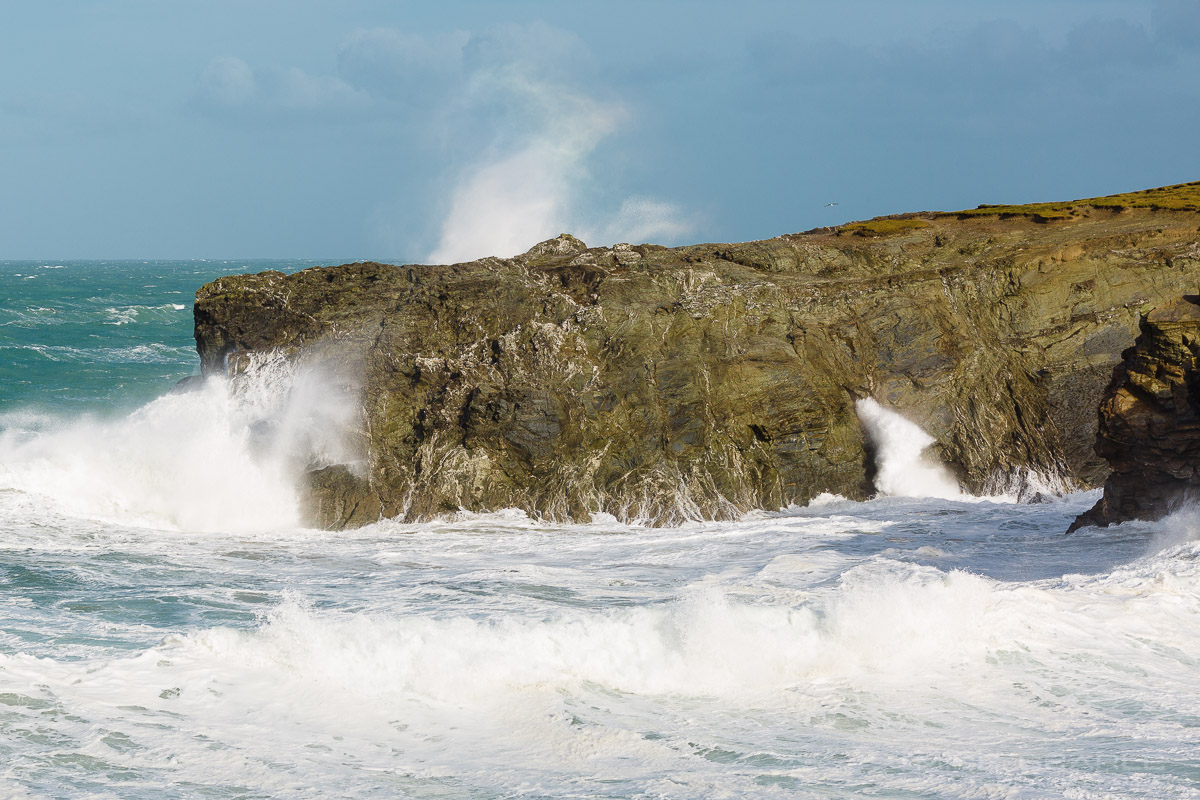 Porth Blowhole Newquay cornwall