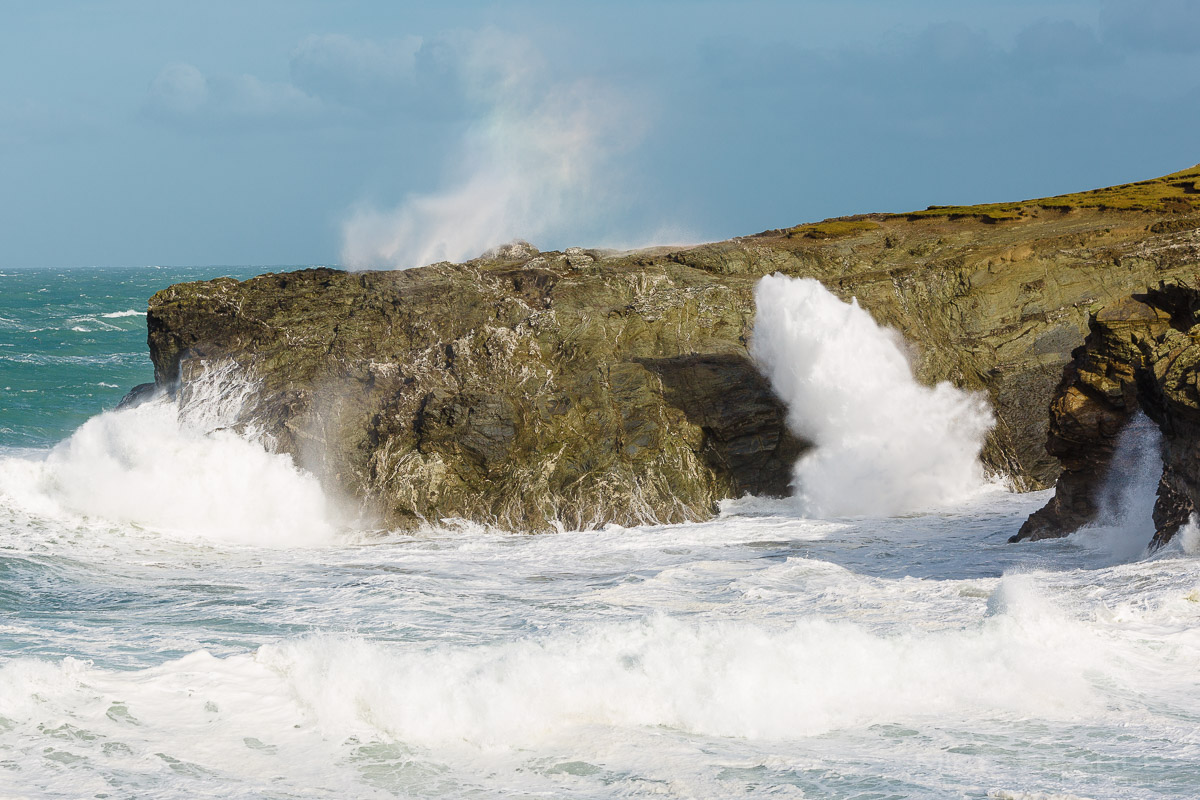Porth Island Blowhole Newquay cornwall